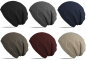 Preview: Beanie Winter Strick Mütze gefüttert mit warmem Fleece