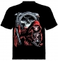 Preview: Skull T-Shirt Sensemann mit rotem Cape