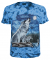 Mobile Preview: Tiermotiv T-Shirt Heulender Wolf