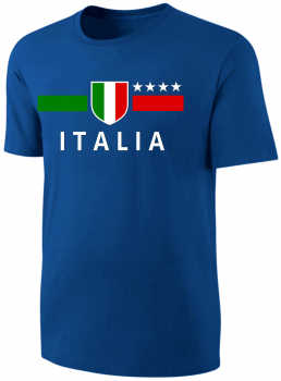 Italien T-Shirt Kinder Fußball Fan Shirt Blau