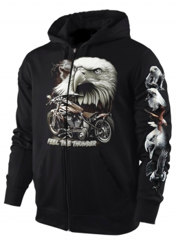 Sweatshirt Jacke/Hoody Adler Feel the Thunder