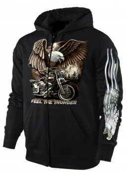 Sweatshirt-Jacke/Hoody Feel the Thunder