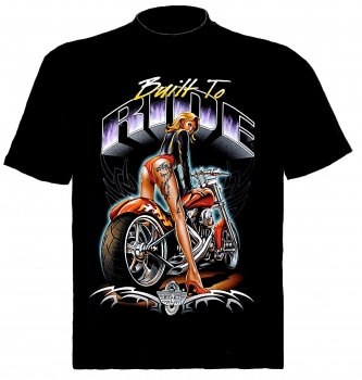 Biker T-Shirt Built to RIDE