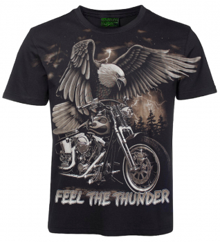 Biker T-Shirt Feel the Thunder Allprint