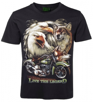 Biker T-Shirt Live the Legend