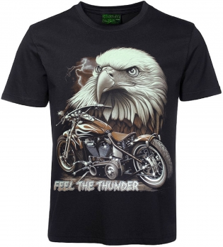 Biker T-Shirt Adler Feel the Thunder
