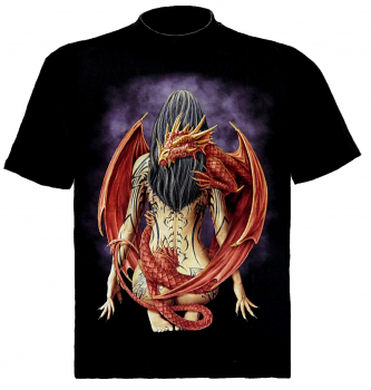 Biker T-Shirt Drachen Tattoo Lady