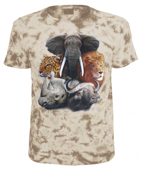 Kinder T-Shirt The Big Five Tiermotiv Shirt Sand Batik