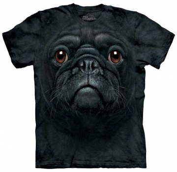 The Mountain T-Shirt Black Pug Face