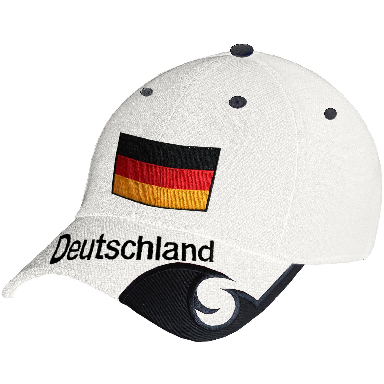 Blackshirt Company Deutschland Schildm/ütze Fu/ßball Handball Fan Snapback Basecap Schwarz Rot Weiss
