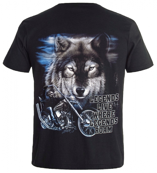 Biker T-Shirt Legends Live