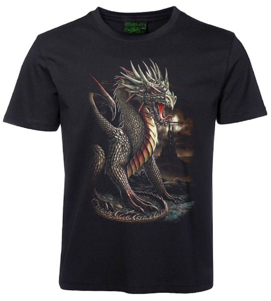 Kinder T-Shirt goldener Drache