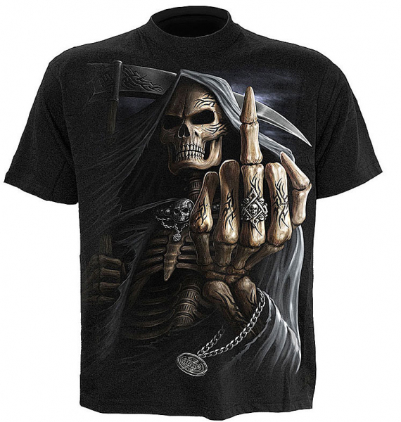 Spiral T-Shirt BONE FINGER