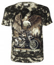 Biker T-Shirt Feel the Thunder Batik